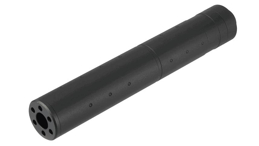 A68687-1 Silencieux aluminium 195mm Dot Mock noir - A68687