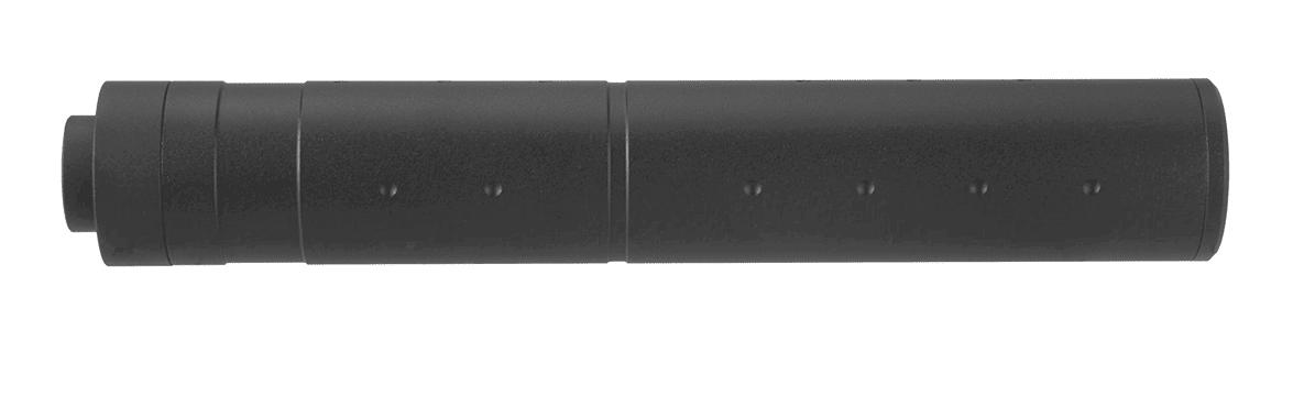 A68687-2 Silencieux aluminium 195mm Dot Mock noir - A68687