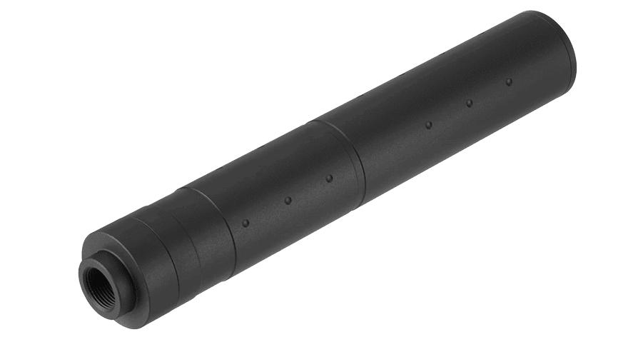 A68687 Silencieux aluminium 195mm Dot Mock noir - A68687