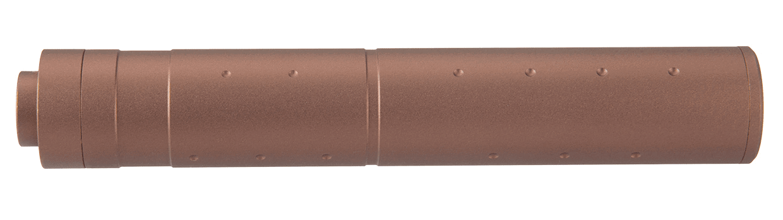 A68688-2 Silencieux aluminium 195mm Dot Mock Dark Earth - A68688