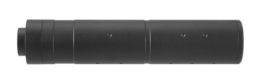 A68689-2 155mm Aluminium Dot Mock Suppressor Black - A68689