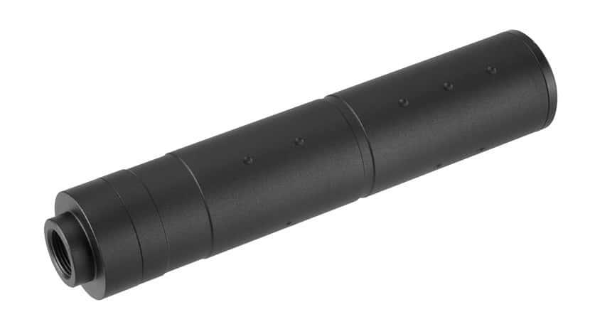 A68689 155mm Aluminium Dot Mock Suppressor Black - A68689