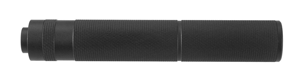 A68691-2 Silencieux aluminium 195mm Knurled Mock noir - A68691