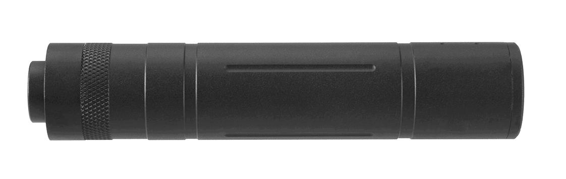 A68693-2 Silencieux aluminium 155mm Knurled Mock noir - A68693