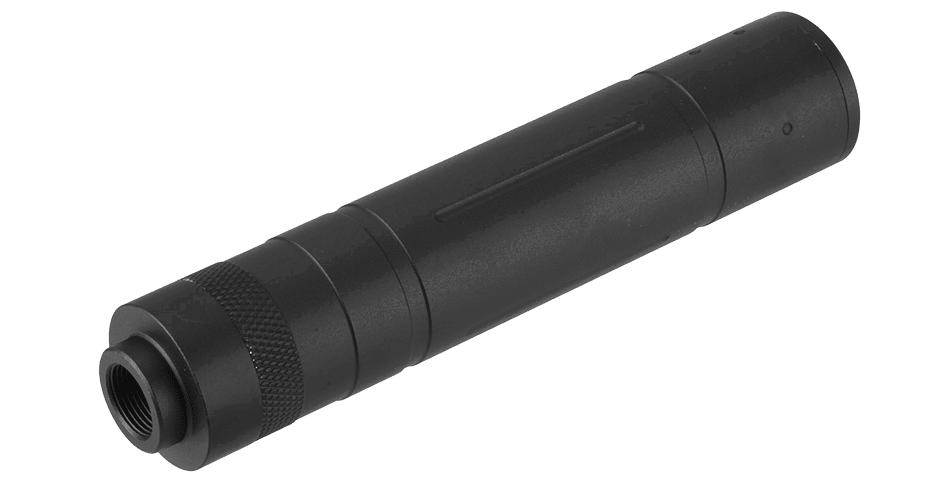 A68693 Silencieux aluminium 155mm Knurled Mock noir - A68693