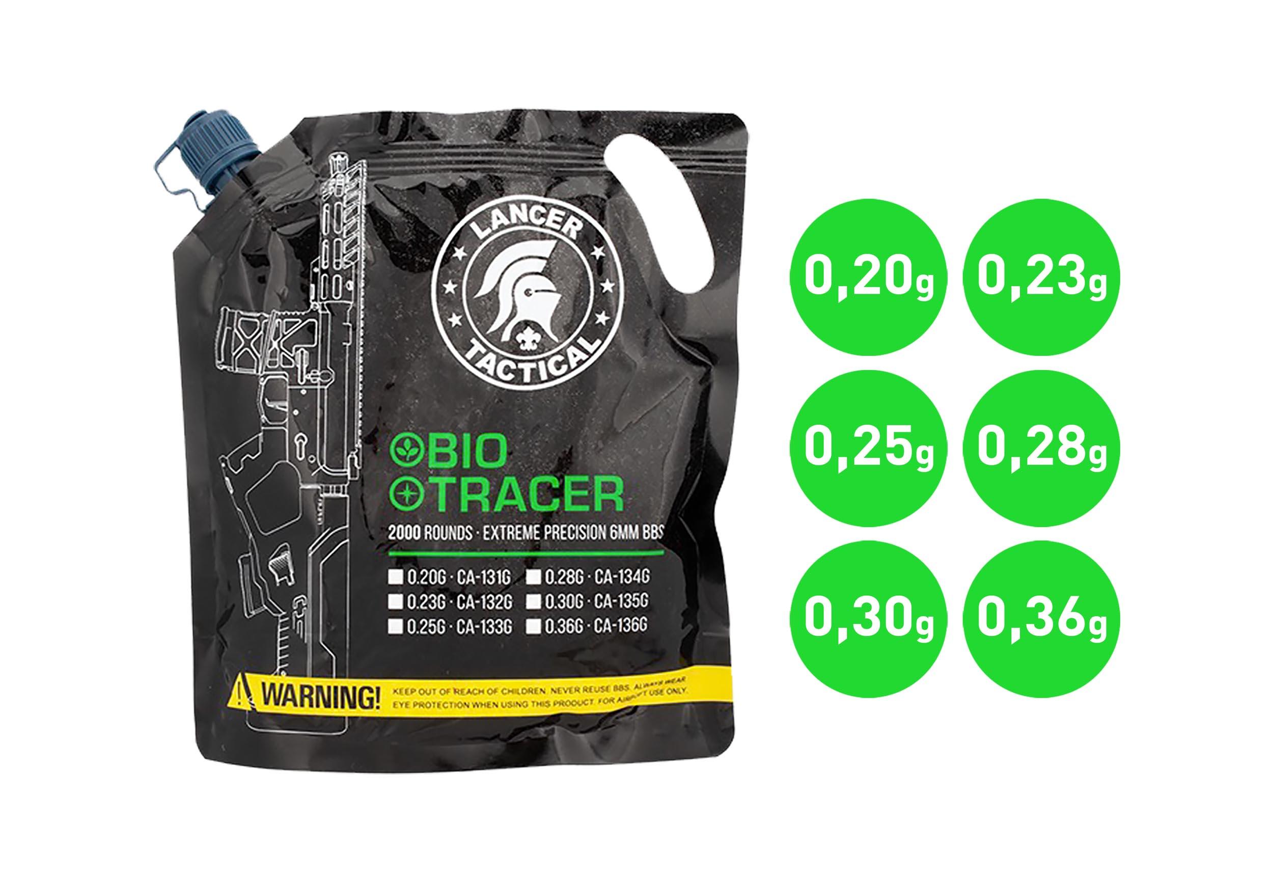 BB3322-V Tracer BIO BBs 0,20g x 2000 bag Green - BB3320