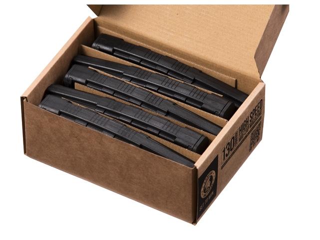 CLK9021-1 Pack of 5 Speed Mid-cap 130 rounds M4 AEG mag Black - CLK9021