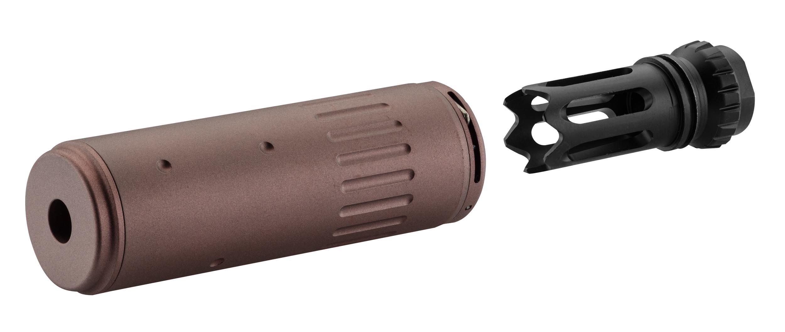 PU02001-2 AAC Style QD Silencer + Flash hider FDE - PU02001